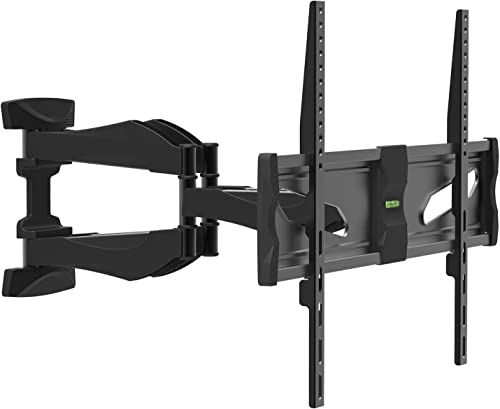 Ginkgo Full Motion TV Wall Mount Bracket for Most 40 -75 LED, LCD, OLED, Plasma Flat Screen TV with Dual Articulating Arm on One Stud, up to VESA 600x400mm and 99lbs, Swivel, Level Adjustable