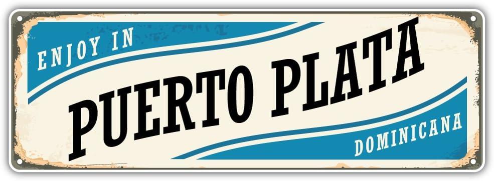 Puerto Plata City Dominican Republic Retro Sign Travel Bumper Sticker Vinyl Art Decal for Car Truck Van Window Bike Laptop