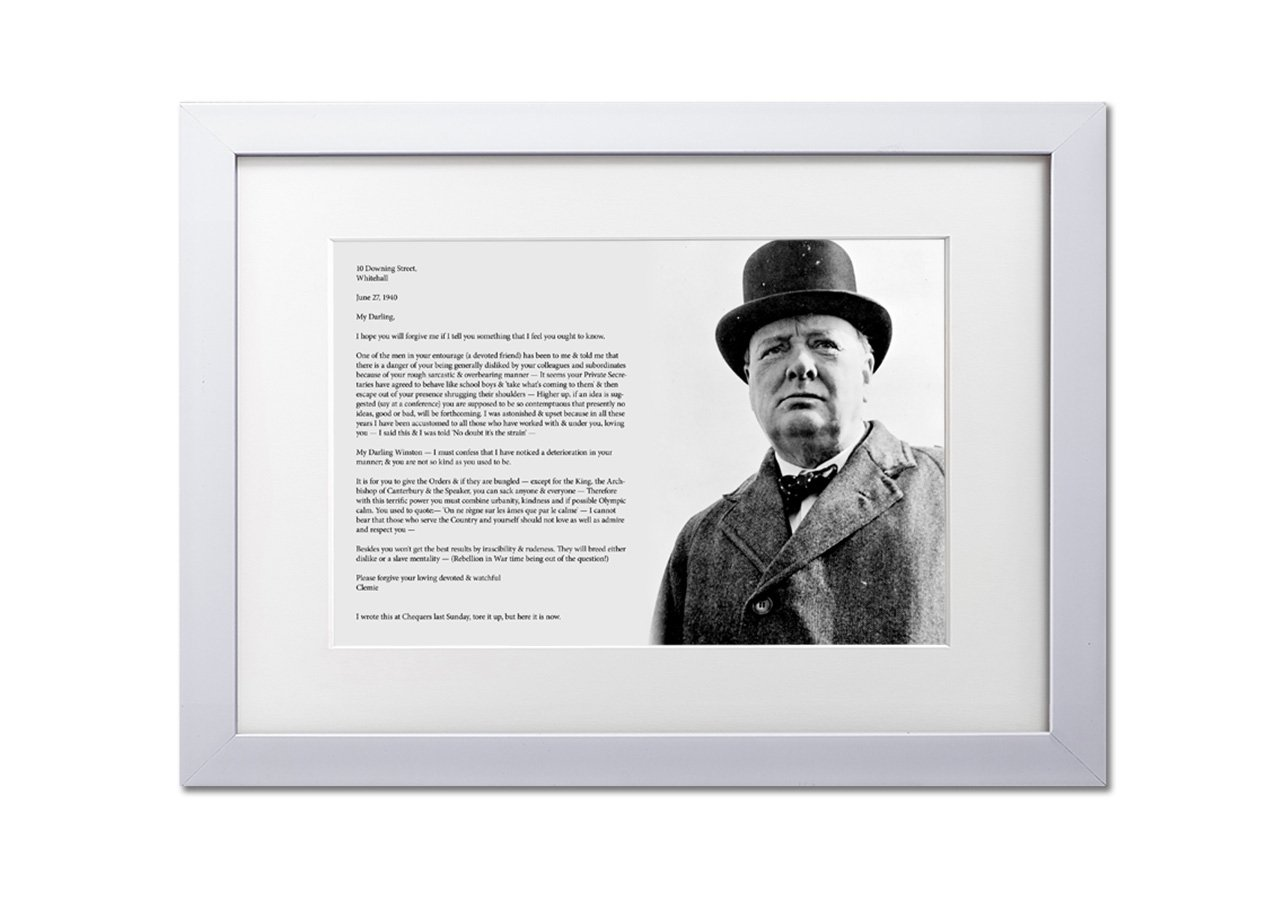 ea16c2996e73e Living Colors Quotes Winston Churchill A4 Framed Art Print - Walnut Frame - Wall  Art Picture - 8 x 12 Inches (20x30CM)  Amazon.co.uk  Kitchen   Home