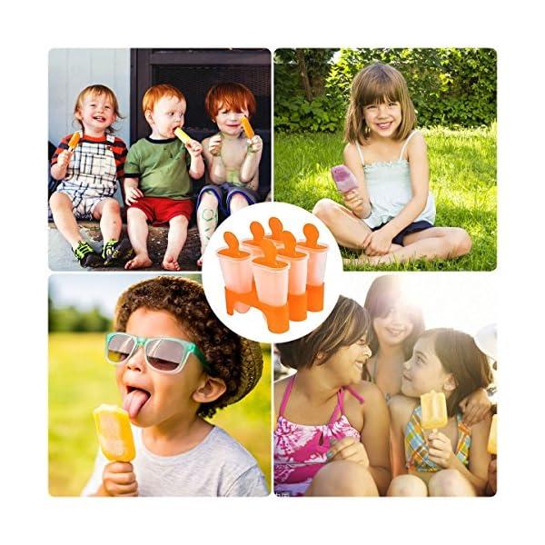 Bemomo - Stampi per ghiaccioli fai da te riutilizzabili, i bambini preferiscono i ghiaccioli con base, meraviglioso… 5 spesavip