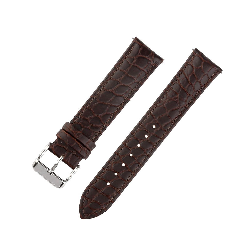 ivystore 18 mm 20 mm 22 mm AlligatorブラックブラウンソフトInterchangeableバー本革腕時計ストラップ 20mm ブラウン  ブラウン 20mm B075KJGL7Q