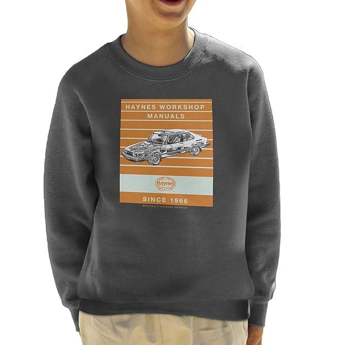 Haynes Workshop Manual 0765 Saab 900 Turbo Stripe Kids Sweatshirt
