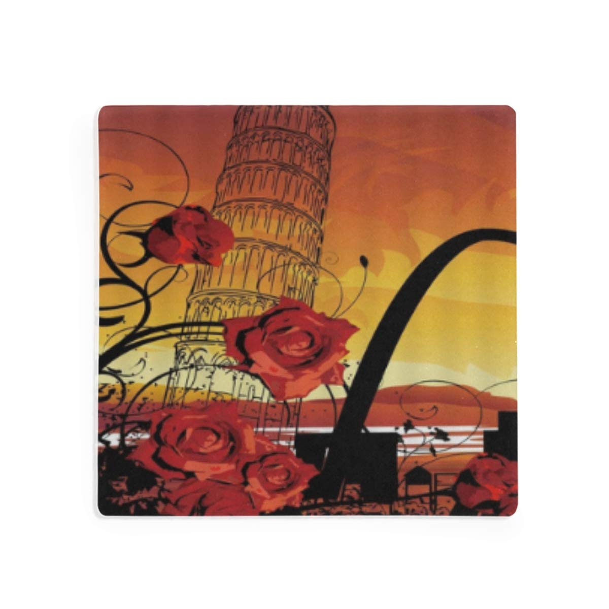 PANILUR Por la Torre Inclinada Flor Primavera Planta roja Punto ...
