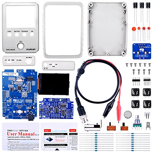 Kuman JYE Tech DSO Shell Oscilloscope DIY Kit with Open Source 2.4 inch color TFT LCD+ Shell + DIY Parts + Probe 15001K (SMD pre-soldered) by Kuman