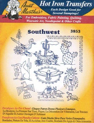 Southwest Motifs Aunt Martha's Hot Iron Embroidery Transfer ()