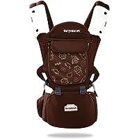 SONARIN 3-en-1 porte-bébé multifonction Premium avec siège de hanche détachable,Soutien à maillons Respirant,Ergonomique,Tabouret gonflable,Adapté à la croissance de votre enfant,cadeau idéal