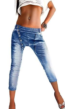 if she Mozzaar Damen 34 Capri Jeans Hose wadenlang hell
