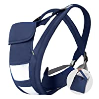 Hommie Ergonomic Baby & Child Carrier, Four Position Soft Breathable Carrier for All Shapes and Seasons, Perfect for Nursing 3 Months to 24 Months Infant and Toddlers,Dark Blue