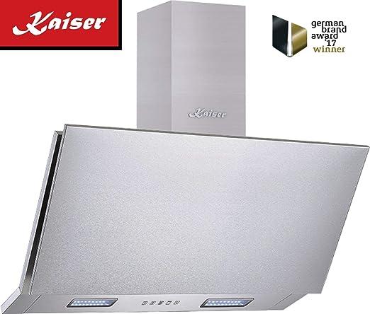 Kaiser - Campana extractora de acero inoxidable (90 cm, muy absorbente, 1250 m3/h, 90 cm, completamente de acero inoxidable, sin cabezal): Amazon.es: Grandes electrodomésticos