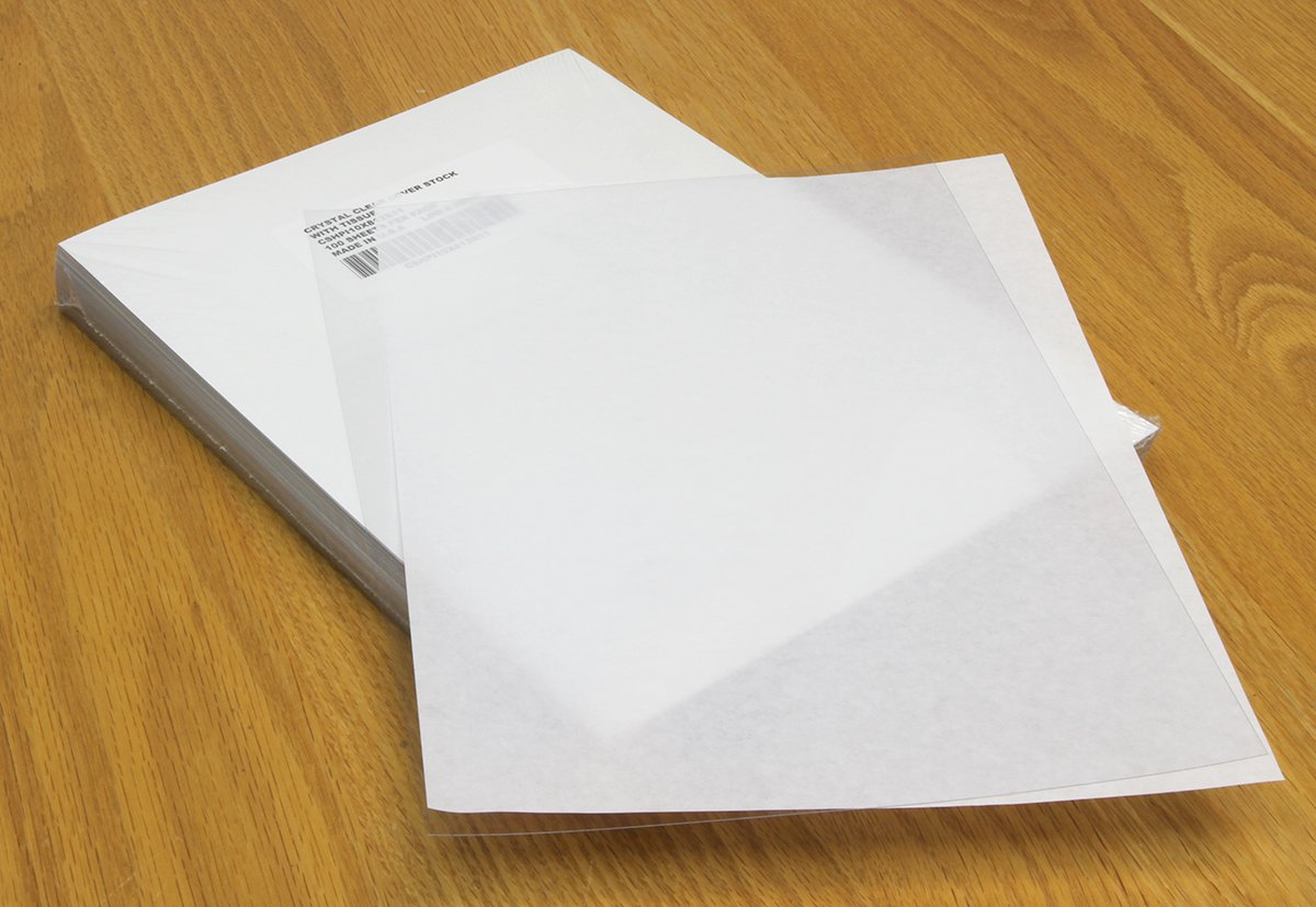 Clear Plastic Binding Covers, 8 1/2 x 11 inches, 200 Covers by USI (Image #1)