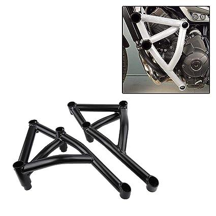 Black Stunt Cage Engine Guard Crash bar for Yamaha MT FZ 09 Tracer MT-09  FZ-09