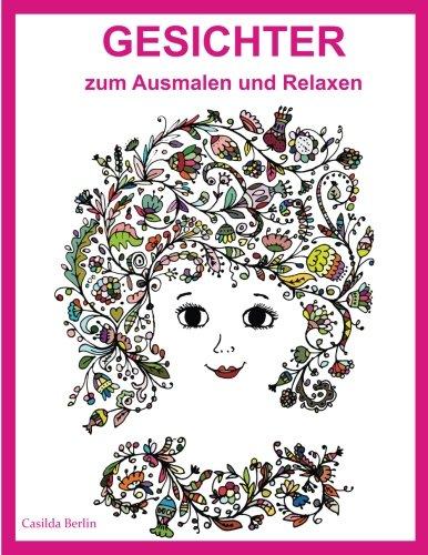 GESICHTER Ausmalen Relaxen Malbuch Erwachsene PDF Beacea737 | Tv ...