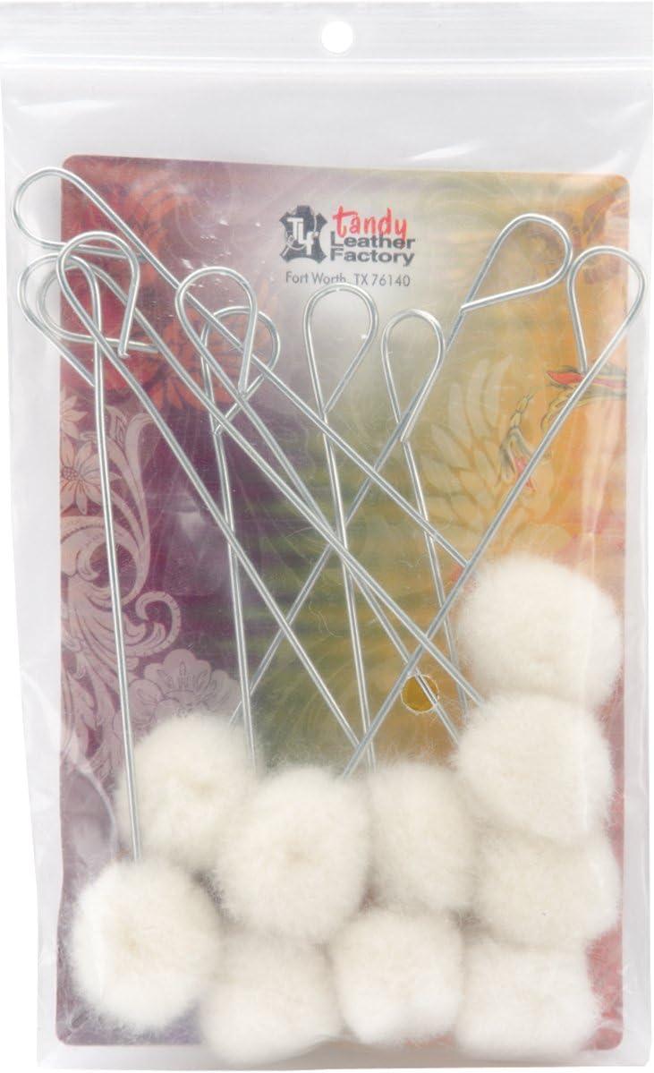 Wool Daubers Regular 10 Pack Leather Solvent Based Dye Applicator