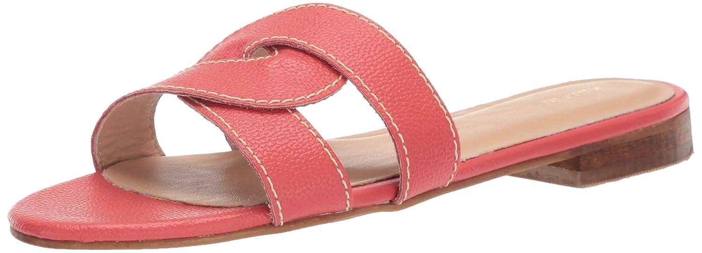 Red KAANAS Womens Santorini Infinity Loop Woven Flat Slide Sandal Sandal