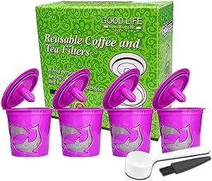 KANGneei Reusable Refillable Coffee Filter Pod for Keurig K-Cup 2.0 K200 BPA-Free 4 Pack