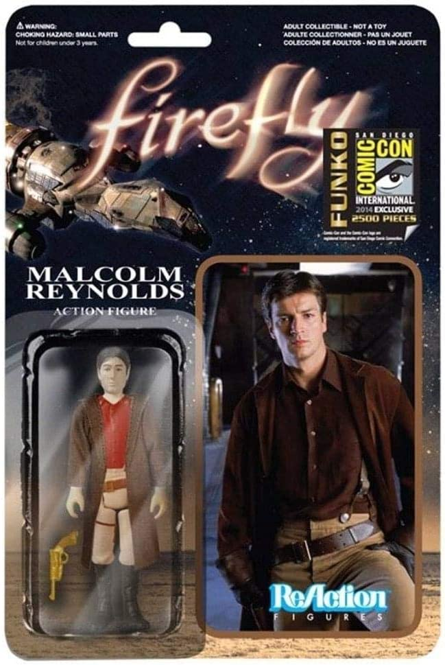 Firefly Browncoat Malcolm Reynolds ReAction 3 3/4 Retro Action Figrue - Previews SDCC Exclusive by Reaction Figures