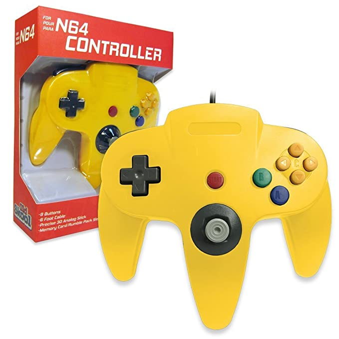Amazon com: Generic N64 Wired Classic Controller Yellow