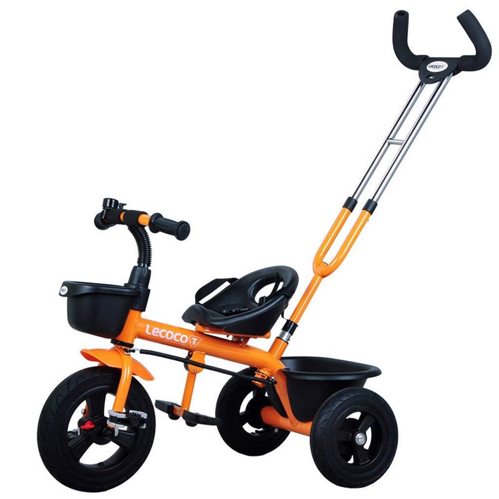 ファッション子供用自転車 - 子供用三輪車自転車子供自転車3-6歳パターシートベルト  Orange B07RHCGLS7