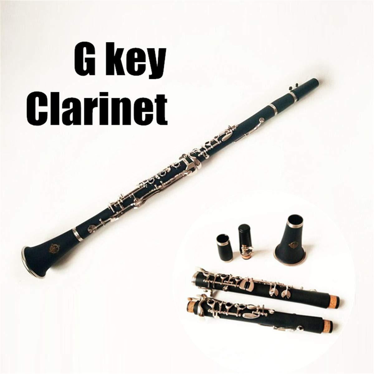 Clarinete profesional francés G Tune cuerpo de madera latón ...