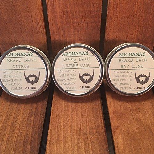 Aromaman All-Natural Homemade Beard Balms. Choose a Blend. 1 oz Tin.