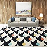 Colorful Diamond/Triangle Pattern Living Room Heavy Carpet, Luxury Area Rug for Home Decoration, Crawling Floor Mat for Kids/Children/Toddler/Baby 63 by 91 Inch by MAXYOYO