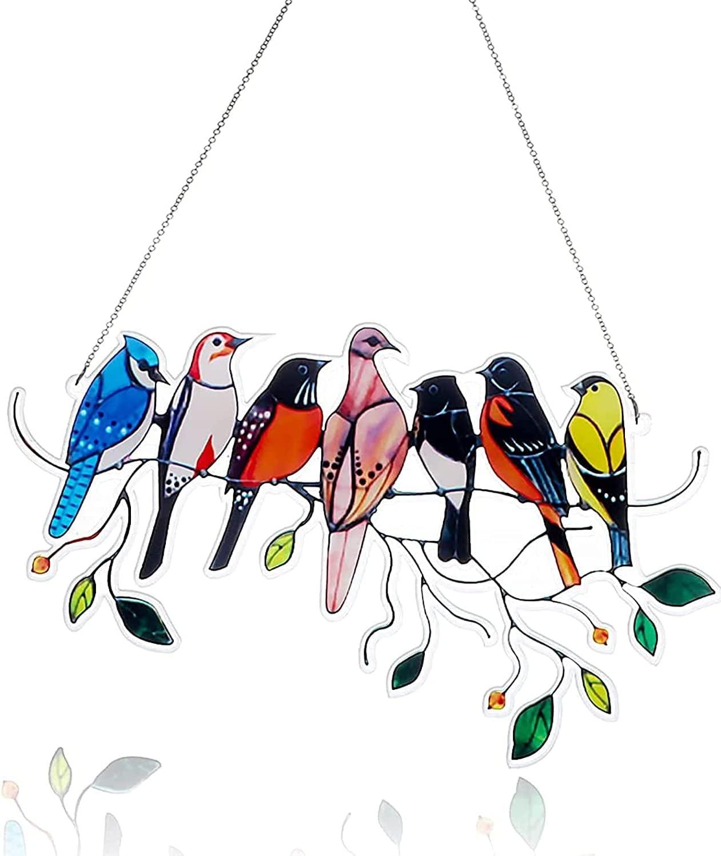Bird Suncatchers for Windows, JLI MAY Garden Decor Suncatchers Vintage Design, Garden Sculptures & Statues Decor Creative Gifts