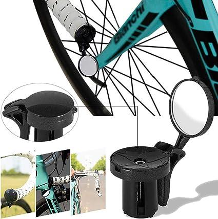 DEBBD - Espejo retrovisor para manillar de bicicleta de carretera y de montaña, ajustable, con enchufe: Amazon.es: Coche y moto