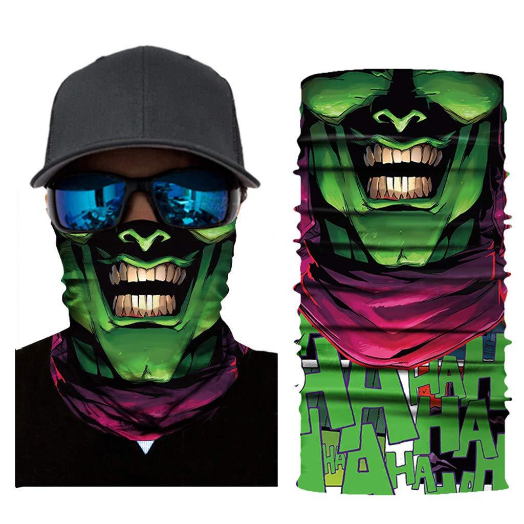 mxjeeio Clown Halstuch Maske Schal Schlauchtuch K/älteschutz Gesichtsmaske Halloween Motorrad Ski Snowboard Jagen Angeln Motorrad Fahrrad Paintball