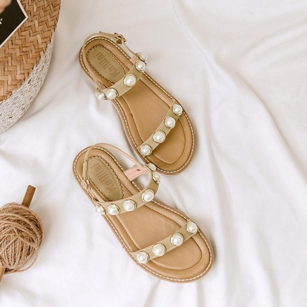 FizaiZifai Flats Women Flats FizaiZifai Sandals Shoes B07D6ZBNVQ 9.5 US = 26 CM|Beige 865eda