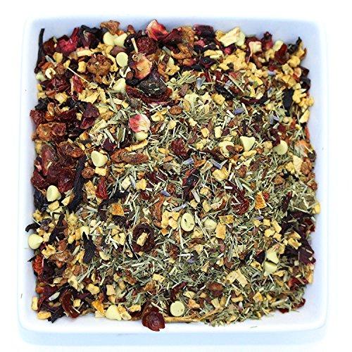 Tealyra - Lavender Lemon Potion - Herbal Loose Leaf Tea - White Chocolate - Caffeine-Free - Relaxing - How and Iced - 110g (4-ounce) - Mini Tart Lemon