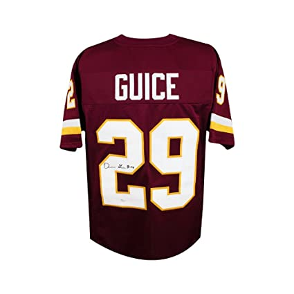 be1e71db Derrius Guice Autographed Washington Redskins Custom Football Jersey - JSA  COA