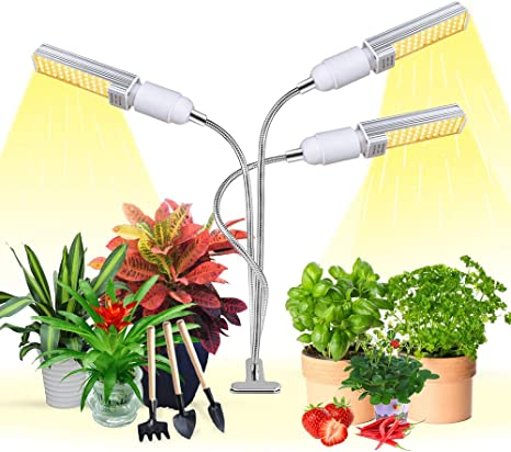 3 Heads LED Grow Light Plant Growing Lamp Lights for Indoor Plants Hydroponics