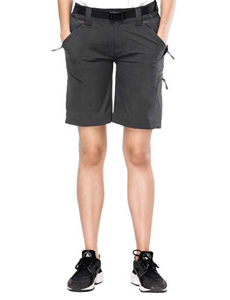 2f8b872755 MIER Women's Lightweight Cargo Shorts Outdoor Stretchy Hiking Shorts with  Zipper Pockets, Adjustable Waist,