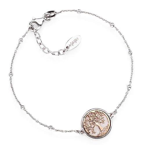 acquista originale acquista per ufficiale design distintivo bracciale donna gioielli Amen Albero Della Vita casual cod. BRAL3