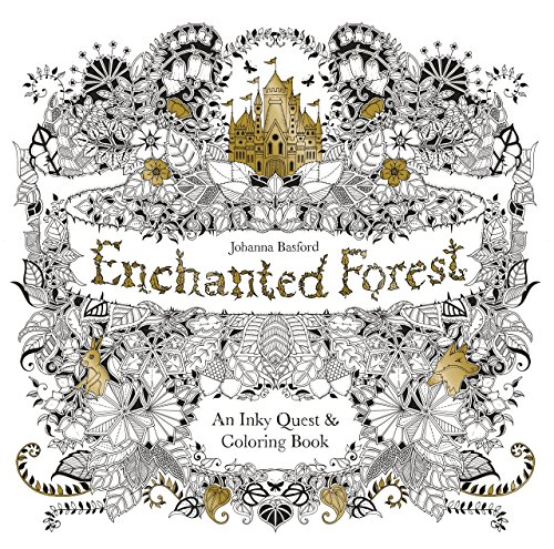 Enchanted Forest: An Inky Quest and Colouring Book by Johanna Basford (2-Mar-2015) Paperback (Inky Quest)