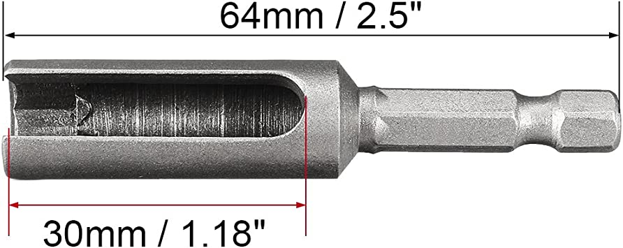 uxcell 8mm Nut Driver 2.5 Inch Length 1//4 Quick-Change Hex Shank Slotted Drill Bit Socket Wrench Tool