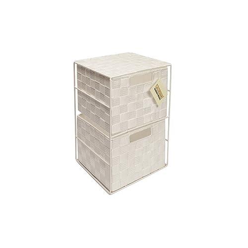 EHC 2-Drawer Storage Drawer for Bedroom/Bathroom, White