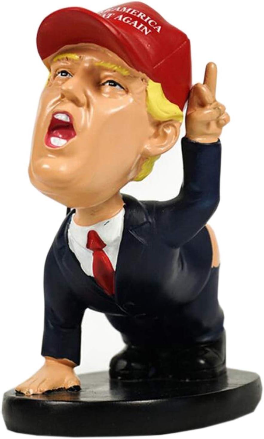 Sacudir la cabeza de la muñeca de resina, Trump divertido titular de la pluma de la decoración, titular de la tarjeta de oficina, regalo del recuerdo (Color : A)