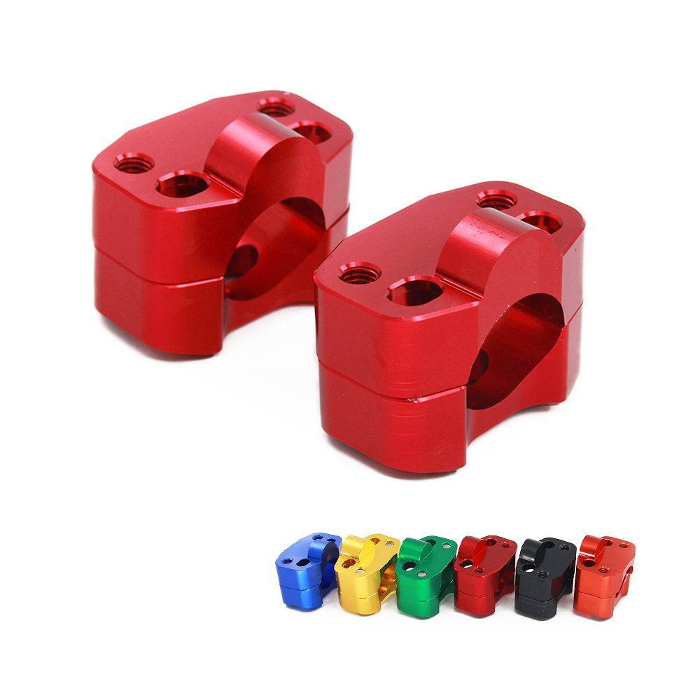 JFG RACING 1 1/8' 28MM Red CNC Handlebar Fat Bar Clamp Mount Risers Adaptor For Honda Dirt Bike