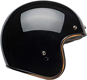 Bell Custom 500 Open-Face Motorcycle Helmet (Rally Gloss Black/Bronze, Medium)