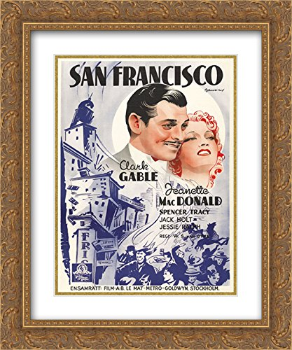 San Francisco 20x24 Double Matted Gold Ornate Framed Movie Poster Art - San Francisco Galleria