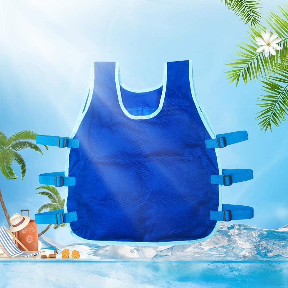 Binwe Verdunstungsk/ühlweste f/ür M/änner Wende-Eisk/ühlweste f/ür MS Working PVA Sports Sonnenstich-Hochtemperaturschutzkleidung mit 24-teiligen Eispackungen