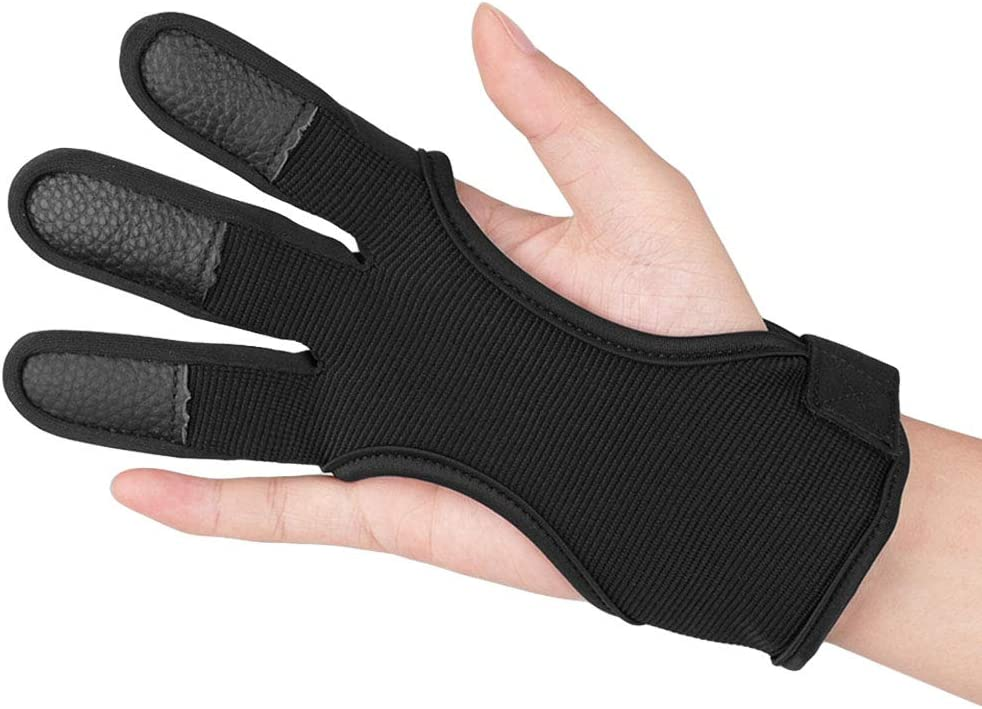 KRATARC Adult Archery Gloves Finger Protector Shooting Hunting Arrow Bow Archery Protective Gear Accessories : Sports & Outdoors