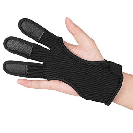 Archery Bow Hunting Gloves Longbow bow-hand 2 Finger glove New// Hunting Gloves