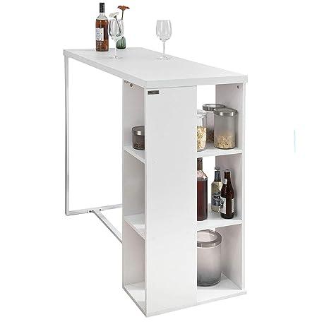 SoBuy Bancone Bar da casa Tavolo Cucina L120*P49*A105 cm,Bianco,FWT39-W