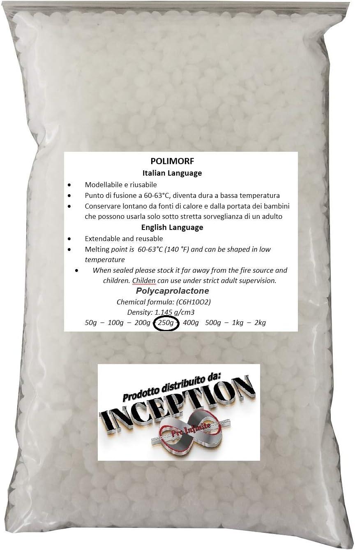 Inception Pro Infinite 250 g de plástico moldeable polimorf rubaforma plástico para Crear moldes Obras de Arte prototipos Modelos Reparaciones de Bricolaje