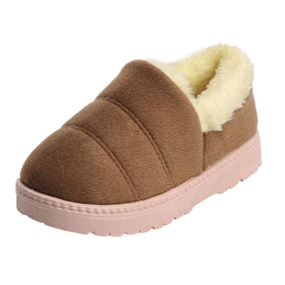 OCEAN-STORE Toddler Boys Puppy Cotton Warm Winter Non-Slip House Slipper Kids Athletic Running Shoes Knit Breathable Lightweight Walking Tennis Sneakers for girlsCoffee2.5-3 Years by OCEAN-STORE (Image #1)