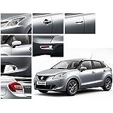 Auto Pearl - Chrome Plated Premium Quality Accessories for - Maruti Suzuki Baleno New - Set of 7 Pcs.