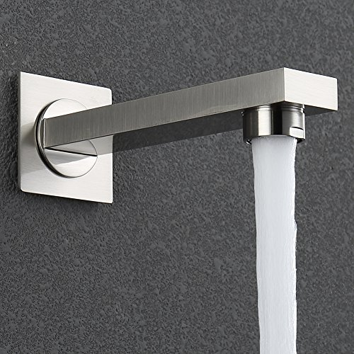 HIMARK Luxury Rain Shower Systems Wall Mounted Shower Combo Set with High Pressure 10 Inch Square Rain Shower Head and Handheld thermostatic Tub Shower Faucet Set Brushed Nickel by HIMARK (Image #4)