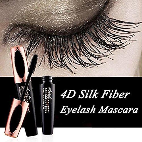 Ownest 4D Silk Fiber Eyelash Mascara,Waterproof&Long Lasting Eyelash Extension,Warm Water Washable Eye Makeup Mascara
